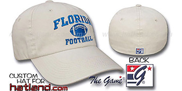 Florida FOOTBALL Fitted Hat by The Game - stone