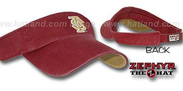 Florida State SLIDE Visor by Zephyr - burgundy