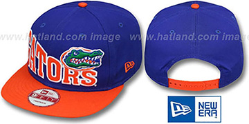 Florida 'STOKED SNAPBACK' Royal-Orange Hat by New Era