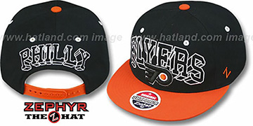 Flyers 2T BLOCKBUSTER SNAPBACK Black-Orange Hat by Zephyr