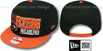Flyers 2T BORDERLINE SNAPBACK Black-Orange Hat by New Era
