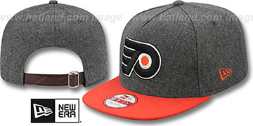 Flyers 2T MELTON A-FRAME STRAPBACK Hat by New Era