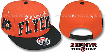 Flyers '2T SUPER-ARCH SNAPBACK' Orange-Black Hat by Zephyr