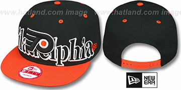 Flyers 'BIG CITY PUNCH SNAPBACK' Black-Orange Hat by New Era