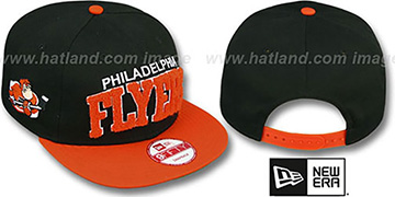 Flyers 'CHENILLE-ARCH SNAPBACK' Black-Orange Hat by New Era