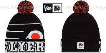 Flyers COLOSSAL-TEAM Black Knit Beanie Hat by New Era