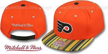 Flyers NATIVE-STRIPE SNAPBACK Orange Hat by Mitchell & Ness