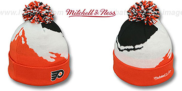 Flyers PAINTBRUSH BEANIE by Mitchell and Ness