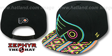 Flyers 'RAVE-2 SNAPBACK' Black Hat by Zephyr