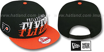 Flyers SAILTIP SNAPBACK Black-Orange Hat by New Era