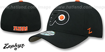 Flyers SHOOTOUT Black Fitted Hat by Zephyr