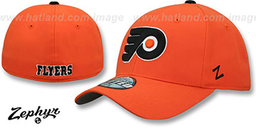 Flyers SHOOTOUT Orange Fitted Hat by Zephyr