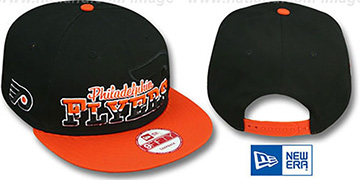Flyers 'SPLIT-BLOCK SNAPBACK' Black-Orange Hat by New Era