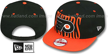 Flyers 'STEP-ABOVE SNAPBACK' Black-Orange Hat by New Era