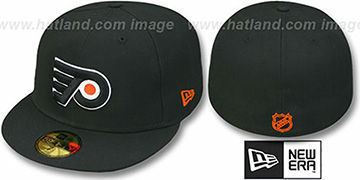 Flyers 'TEAM-BASIC' Black Fitted Hat by New Era