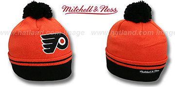 Flyers 'XL-LOGO BEANIE' Orange by Mitchell and Ness