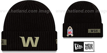 Football Team 2020 SALUTE-TO-SERVICE Black Knit Beanie Hat by New Era