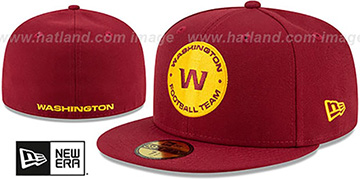 Football Team 'NFL TEAM-BASIC' Burgundy Fitted Hat by New Era