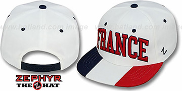 France SUPERSTAR SNAPBACK White Hat by Zephyr
