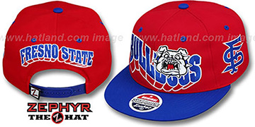 Fresno State '2T FLASHBACK SNAPBACK' Red-Royal Hat by Zephyr