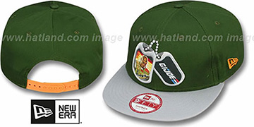 G. I. Joe DOG TAGS SNAPBACK Green-Grey Adjustable Hat by New Era