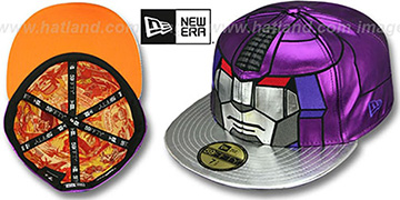 Galvatron 'CHARACTER FACE' Purple-Silver Fitted Hat by New Era