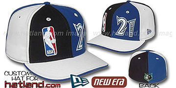 Garnett DOUBLE WHAMMY Black-Royal-white Fitted Hat