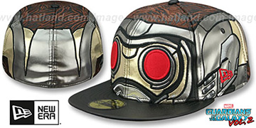Guardians of the Galaxy STARLORD CHARACTER FACE Vol.2 Fitted Hat by New Era