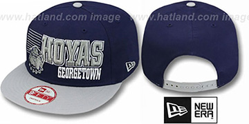 Georgetown '2T BORDERLINE SNAPBACK' Navy-Grey Hat by New Era
