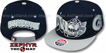 Georgetown '2T FLASHBACK SNAPBACK' Navy-Grey Hat by Zephyr