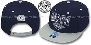 Georgetown '2T HOLDEN SNAPBACK' Adjustable Hat by Twins 47 Brand