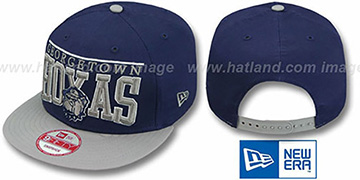 Georgetown 'LE-ARCH SNAPBACK' Navy-Grey Hat by New Era
