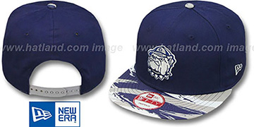 Georgetown 'PAINT-UP SNAPBACK' Adjustable Hat by New Era