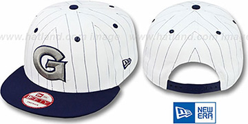 Georgetown 'PINSTRIPE BITD SNAPBACK' White-Navy Hat by New Era