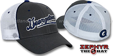 Georgetown SCRIPT-MESH Fitted Hat by Zephyr - grey-white