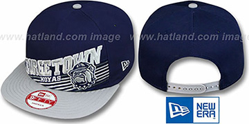 Georgetown STILL ANGLIN SNAPBACK Navy-Grey Hat by New Era
