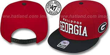 Georgia '2T BLOCKSHED SNAPBACK' Adjustable Hat by Twins 47 Brand
