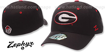Georgia DH Fitted Hat by ZEPHYR - black