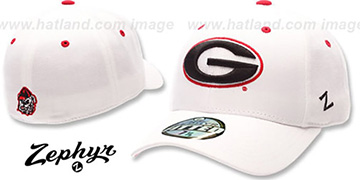 Georgia 'DH' Fitted Hat by Zephyr - white