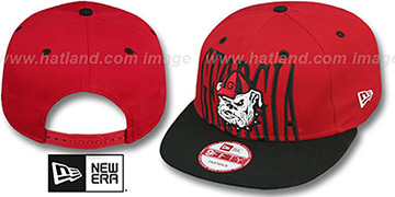 Georgia STEP-ABOVE SNAPBACK Red-Black Hat by New Era