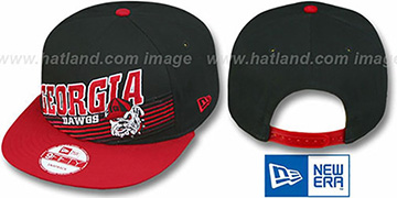 Georgia STILL ANGLIN SNAPBACK Black-Red Hat by New Era