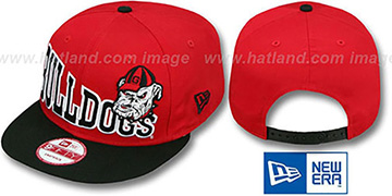 Georgia STOKED SNAPBACK Red-Black Hat by New Era