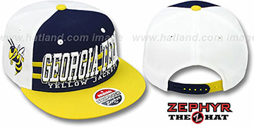 Georgia Tech '2T SUPERSONIC SNAPBACK' Navy-Gold Hat by Zephyr