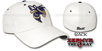 Georgia Tech 'DHS' Fitted Hat by ZEPHYR - white
