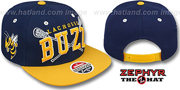 Georgia Tech LACROSSE SUPER-ARCH SNAPBACK Navy-Gold Hat by Zephyr