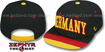 Germany 'SUPERSTAR SNAPBACK' Black Hat by Zephyr