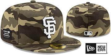 Giants 2021 ARMED FORCES STARS N STRIPES Hat by New Era