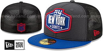 Giants '2021 NFL TRUCKER DRAFT' Fitted Hat by New Era