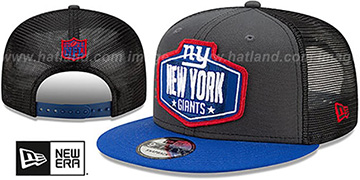 Giants 2021 NFL TRUCKER DRAFT SNAPBACK Hat by New Era