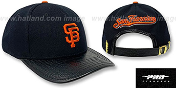 Giants LOW-PRO BASIC STRAPBACK Black Hat by Pro Standard